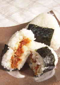 Rice Balls with Umeboshi and Bonito Flakes