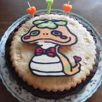 Cookie Ice Cream Cake Decorated For a Birthday