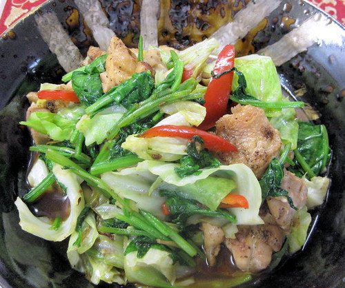 Pan-fried Chicken & Cabbage + 3 Other Veggies