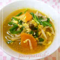 Bean Sprouts and Your Favourite Vegetable Miso Kimchi Soup
