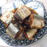 """Boneless"" Pacific Saury or Sardines in Sweet-Salty Sauce (Kanroni) Cooked in a Pressure Cooker"