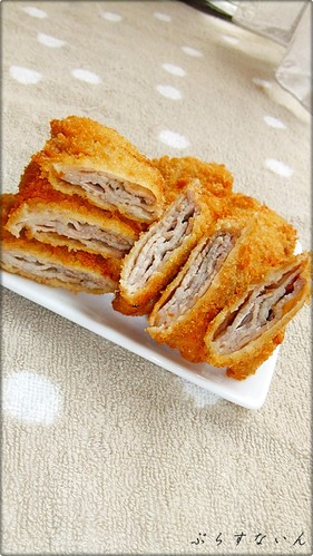 Easy Folded Tonkatsu (Pork Cutlet) with Thinly Sliced Pork Belly