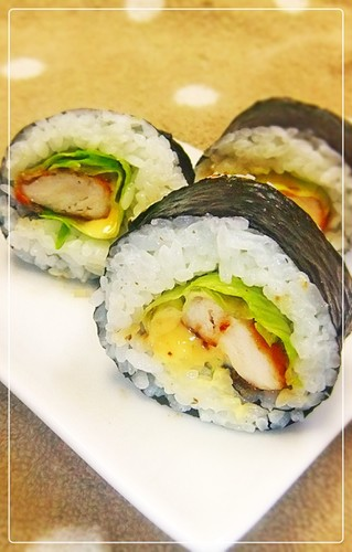Chicken Tender Teriyaki Sushi Rolls