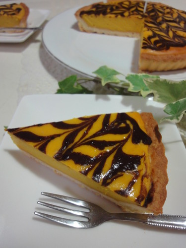 Marbled Kabocha Squash and Cheese Tart