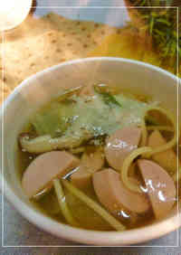 Easy To Eat Fish Sausage and Pasta Soup