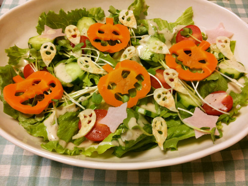 Halloween Ghosts for Salads
