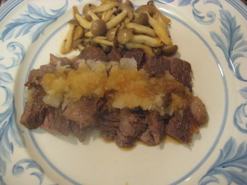 Steak with Homemade Grated Daikon Radish Sauce