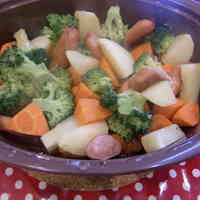 Vegetables Microwaved in Butter Consommé