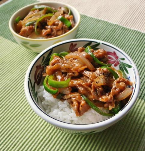 Speedy Cooking! Chopped Pork Rice Bowl