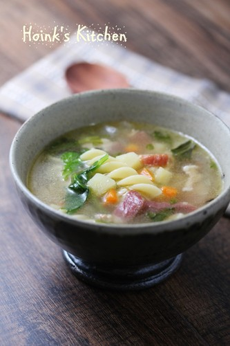 Tasty Soup with Celery Leaves