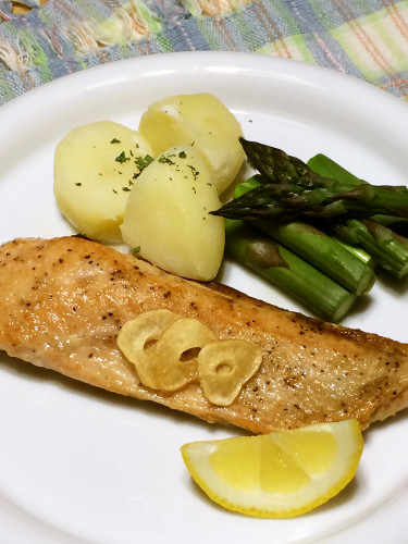 Pan-Fried Salmon with Butter