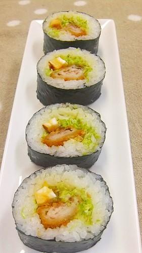 Tonkatsu Sushi Roll