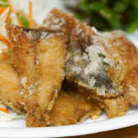 Tasty Fried Pacific Saury
