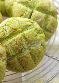 Pancake Mix Matcha Melon Bread