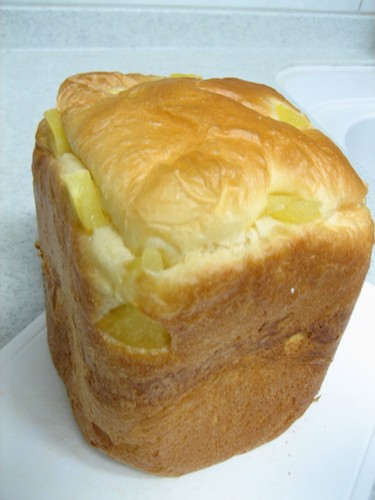 Pineapple Bread Made in a Bread Machine