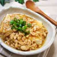 Silky-Soft and Mild Tofu with Chicken Soboro An Sauce