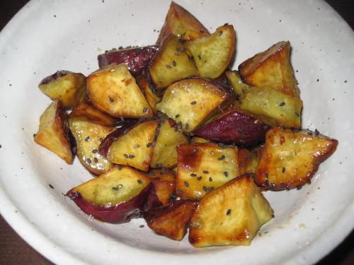 Honey Flavored Daigaku-imo (Deep-Fried & Caramelized Sweet Potatoes)