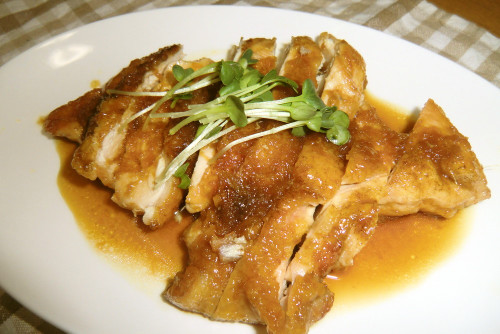 Fried Chicken Breast in Ginger Pork Style