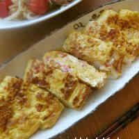 Umami-Rich Fluffy Dashimaki Tamago With Crabsticks and Mentsuyu Sauce