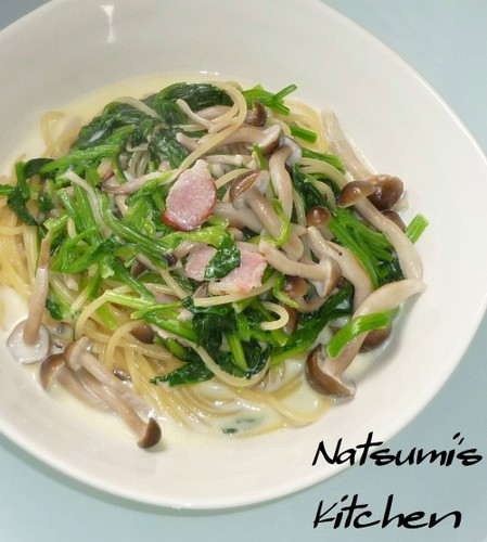 Spinach and Mushroom Cream Pasta