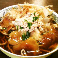 Easy Warm Soba Noodles with Grated Daikon Radish, Nameko Mushrooms and Natto
