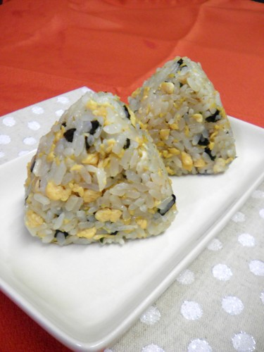Real Nori Seaweed and Egg Rice Balls