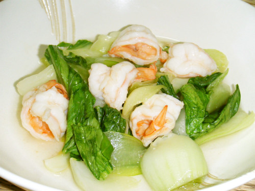 Bok Choy and Shrimp Chinese Stir Fry