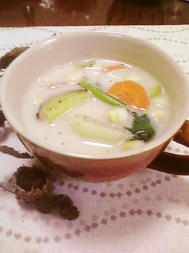 Vegetable-Packed Soup With Soy Milk