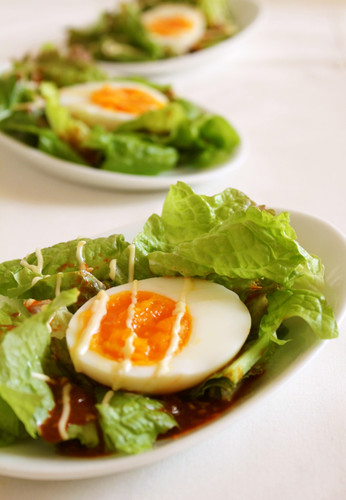 Salad with Gochujang Sauce and Mayonnaise