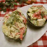 Avocado and Crabstick Mayonnaise Salad