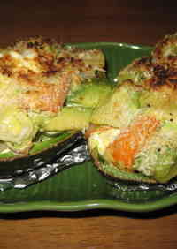 Avocado Gratin with Melted Cream Cheese