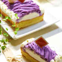 Purple Sweet Potato Mont Blanc Tart