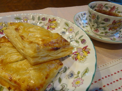 Custard Apple Pie using Frozen Puff Pastries