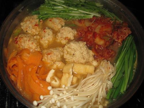 Homemade Kimchi Hot Pot with Fluffy Tofu Meatballs