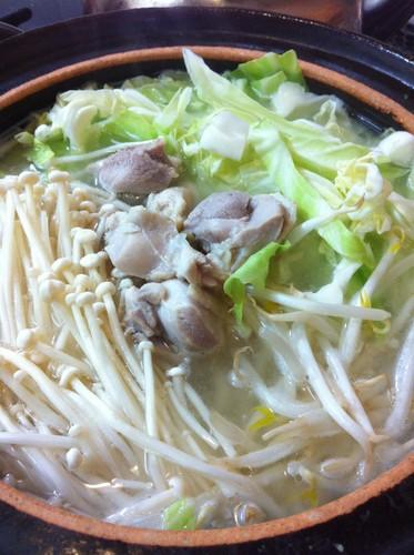 Chicken Hot Pot Using Shio-Koji