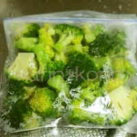 Frozen Microwaved Broccoli