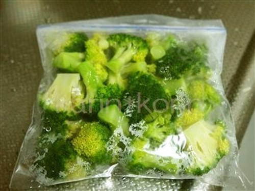Frozen Microwaved Broccoli