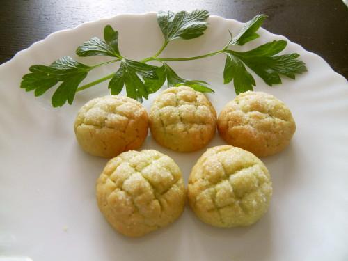Melon Bread-Style Avocado Cookies
