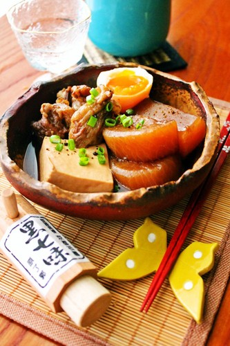 Great With Eggs or Tofu: Simmered Beef Tendon and Daikon Radish