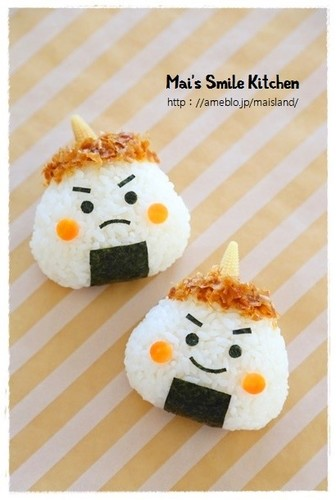 For Setsubun - Little Ogre Rice Balls Charaben