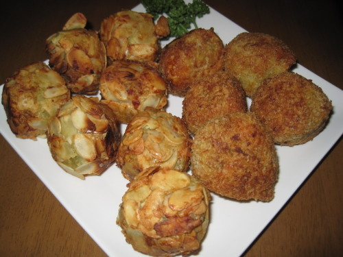 Sweet Potato Croquettes with Cheese and Bacon