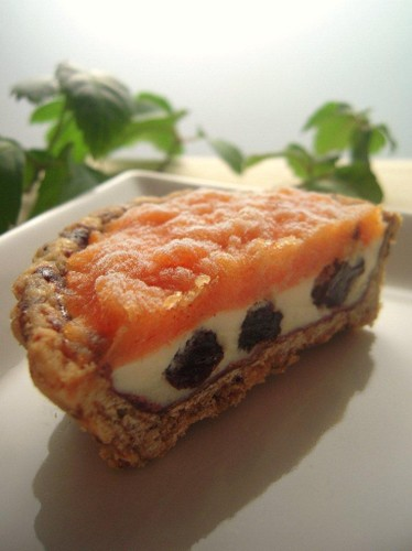 Ice Cream Tart With Grown-up Persimmon Flavor