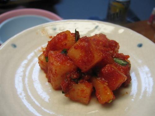 Easy Daikon Radish Kimchi Stock