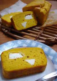 Pound Cake with Kabocha and Cream Cheese