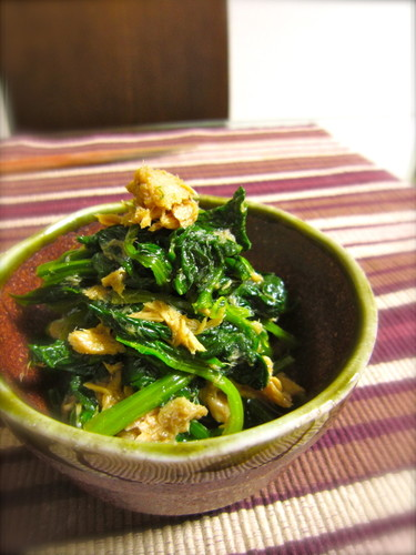 Done In 5 Minutes! Delicious Spinach and Tuna Ohitashi