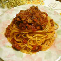 For Dinner♪ Mild Ground Pork Tomato Pasta
