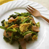Spinach and Ham with Eggs
