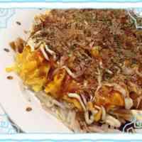 Easy Mock-Okonomiyaki (Savory Japanese Pancake) with Bean Sprouts and Eggs