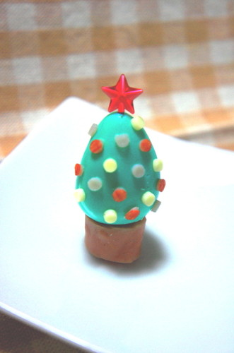 Quail Egg Christmas Tree for Lunchboxes