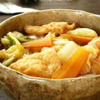 Simmered Aburaage and Chinese Cabbage